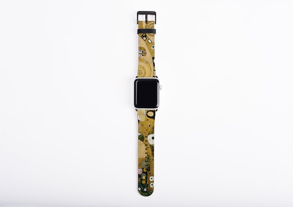 Gustav Klimt Tree of Life Apple Watch Strap, artificial leather, 38 mm, 42 mm, Art Apple watch band, gift for art lovers, unique watch band