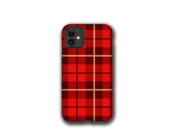 Last Minute Gift - Red Tartan Plaid iPhone 11 case, slim snap on case for the iPhone 11 only, ready to ship