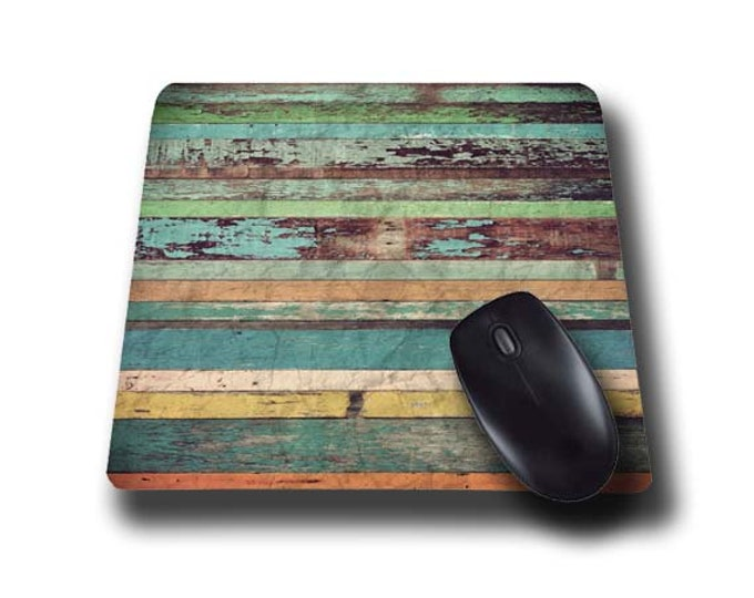 Mouse Pad Mousepad Faux Wood distressed Geometric Mouse Mat Mouse Pad Office Mousemat Rectangular Mousemat Wood Print Mousepad wood planks