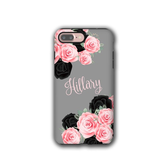 Name iPhone XR Case, Pink and Black Roses, iPhone xs max, iPhone 8 Plus, Galaxy Note 9, Galaxy S8, iPhone 5s, Samsung Galaxy S9, iPhone 7