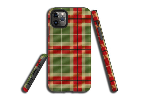Green Red Tartan Plaid iPhone 11, Galaxy s20, iPhone X, Galaxy Note 10, iPhone XS MAX, iPhone 8 Plus, Samsung Galaxy S9, Galaxy S10,iPhone 7