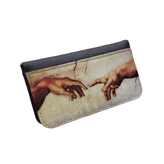 Michelangelo The Creation of Adam phone case flip wallet case Samsung Galaxy Note 3 case iphone 6s iphone 6s Plus Galaxy S5 Galaxy Note 4