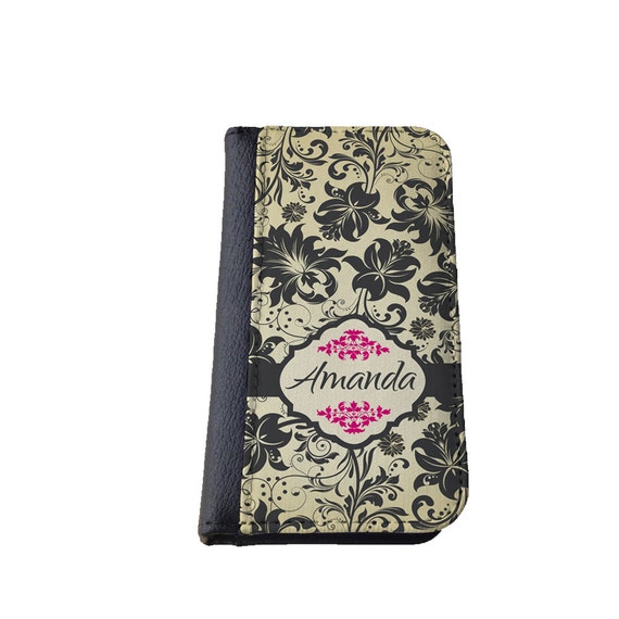 Victorian floral pattern Galaxy S4 case personalized custom Damask phone wallet Samsung Galaxy iPhone 6s iPhone 4s case Galaxy S6 Galaxy S5
