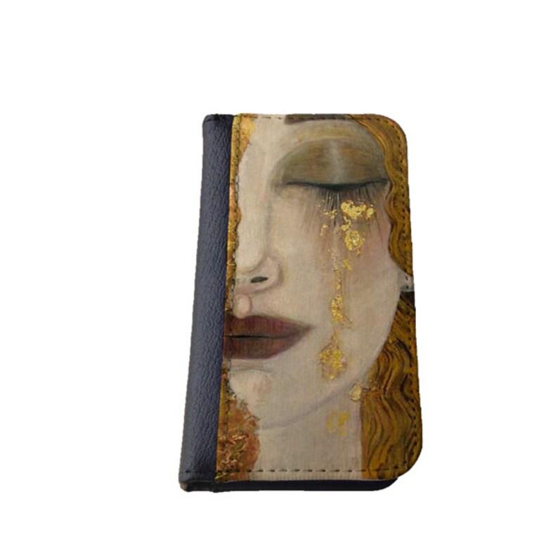 Gustav Klimt goldene Tränen Galaxy S4 Brieftasche Fall Samsung  bd785cf61a