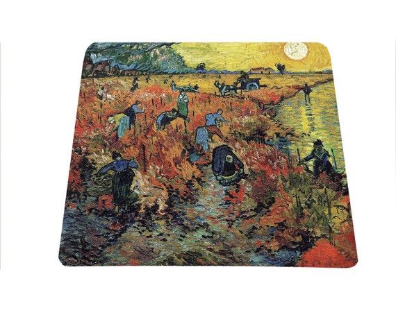 Art teacher gift - Vincent Van Gogh The Red Vineyards near Arles mouse pad mousepad mouse mat art lover famous painting mouse mat