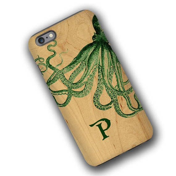 Octopus iPhone 11 custom case for men, nautical phone case iPhone 8 Plus iPhone 7 iPhone xs max Samsung Galaxy S10 5G Vintage Galaxy Note 8