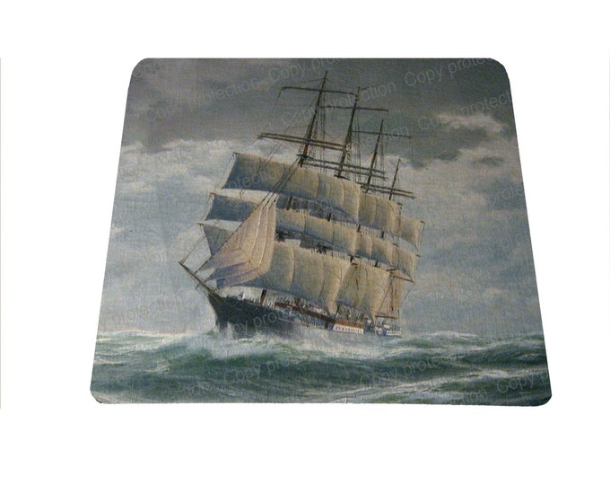 Clipper Ship mousepad sailing ship mouse pad boat gift for men mouse pad mousepad mouse mat nautical gift for under 15 stocking stuffer