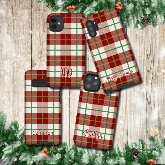 Classy Plaid iPhone 11 Pro Max Case, Holiday Season Tartan Samsung Galaxy Note 10 Plus, iPhone XR, Galaxy S10, iPhone 8 Plus, iPhone XS