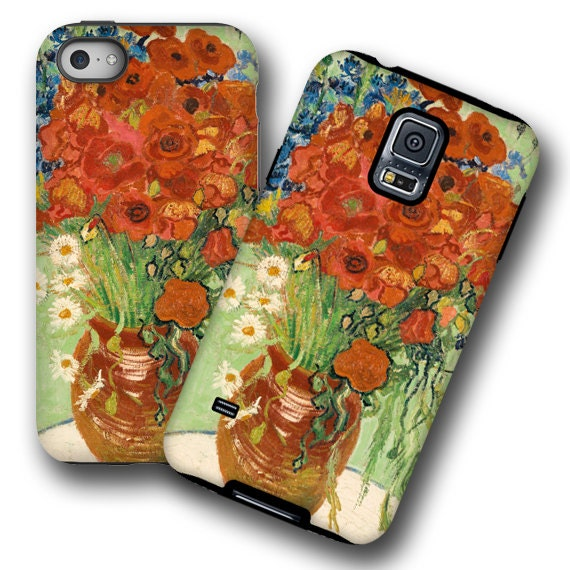 Poppy cornflower van Gogh iPhone 11 cover iPhone xs Galaxy Note 10 Plus iPhone 8 Samsung S8 iPhone XR iPhone 6 Plus Galaxy S20 Galaxy Note 9