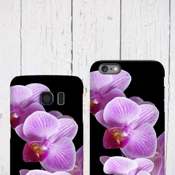Orchid iphone 11 Pro Max case Purple orchids, Floral Samsung Galaxy tough case, Flower iPhone 6 plus, iPhone xr cover Samsung Galaxy S6 Edge