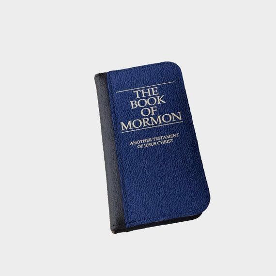 The book of Mormon iPhone 6 Plus Galaxy S4 Galaxy S5 iPhone 6s wallet case Galaxy S6 Edge Galaxy S6 Salt Lake City Utah Mormonism iPhone 4s