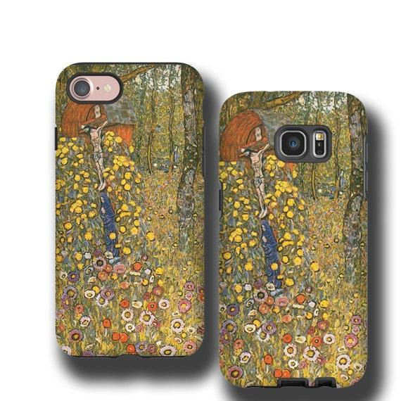 iPhone X Gustav Klimt farmgarden with crucifix iphone 11 iPhone 6s iPhone 5 iPhone 7 Samsung Galaxy S6 Edge Samsung Galaxy S7 Galaxy Note 8