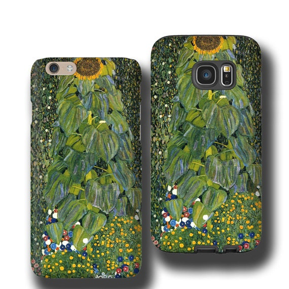 Klimt The Sunflower iPhone 11 max case iPhone XS Samsung Galaxy S9 Galaxy S10 case iphone 7 Plus iPhone 6s iPhone XS Samsung Galaxy S20