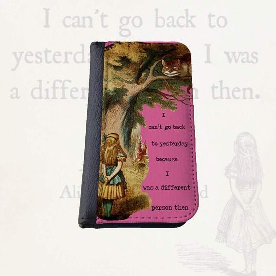 Alice in Wonderland different person Gift for women Galaxy S4 wallet case Galaxy S5 iPhone 6s Plus Samsung Galaxy S6 iPhone 7 case iPhone 4s