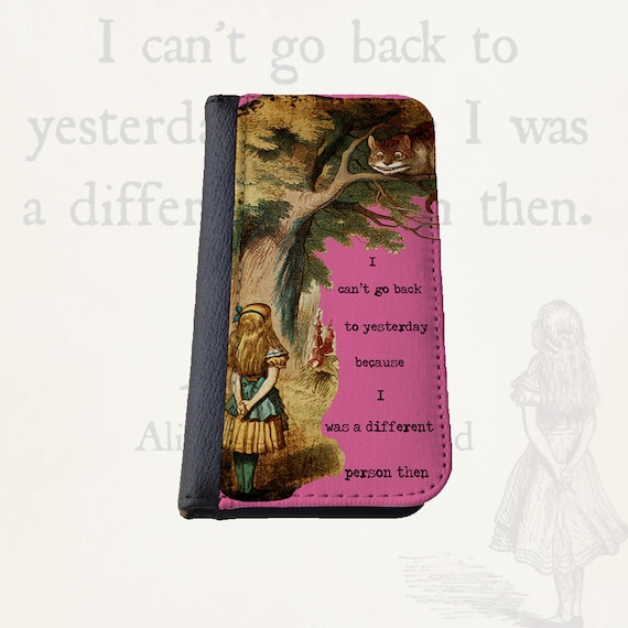 Alice in Wonderland different person Gift for women Galaxy S4 wallet case Galaxy S5 iPhone 6s Plus Samsung Galaxy S6 iPhone 6 case iPhone 4s