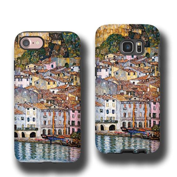 Gustav Klimt Malcesine on Lake Garda iPhone 11 Pro Max case iphone 6s iPhone 7 Plus iPhone XS Max Samsung Galaxy S6 Galaxy Note 8 Galaxy S8