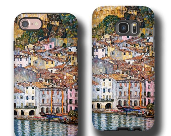Gustav Klimt Malcesine on Lake Garda iPhone 11 Pro Max case iphone 6s iPhone 7 Plus iPhone XS Max Samsung Note 20 Galaxy S21 Galaxy S8