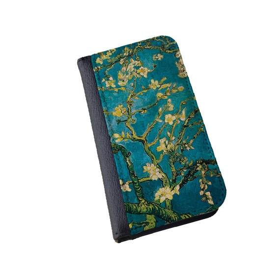 Vincent van Gogh Almond Blossoms iPhone 8 iPhone 7s wallet Galaxy S6 Edge Samsung Galaxy Note 4 Note 3 iPhone 7 plus  iPhone 6s case iphone5