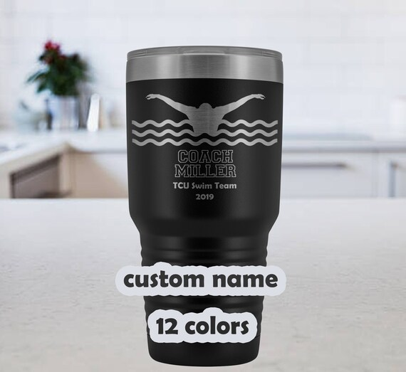 Swim Coach Personalized Tumbler - 30oz Insulated Stainless Steel Travel Mug - customized Swim Coach gift - Gift swim coaches - custom name