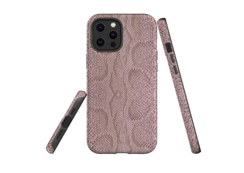Snake Skin Mauve Taupe iPhone 12 Pro Max Case iPhone 13 image 1