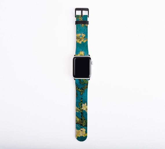 Van Gogh Almond Blossoms Apple Watch Strap, artificial leather, 38 mm, 42mm, Art Apple iwatch all series, Apple watch band, art teacher gift