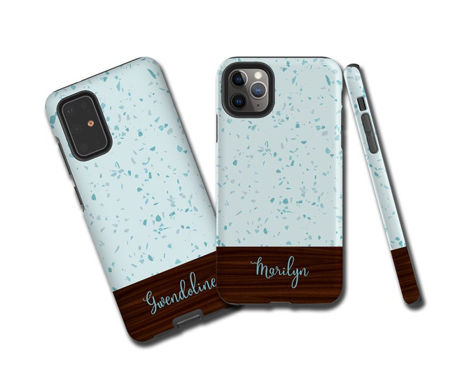 Terrazzo Wood iPhone 13 case, Samsung S10, custom Galaxy Note 20 case, iPhone 11 Pro, Samsung Galaxy Note 9, iPhone XR, , iPhone XS - P30