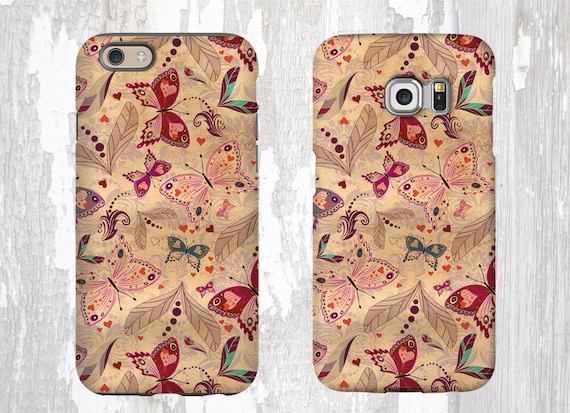 Butterflies iPhone 11 Pro iPhone xr Case Gift for women iPhone 5S iPhone 8 iPhone 6s plus Vintage design Samsung Galaxy Note 8 iPhone 7 plus