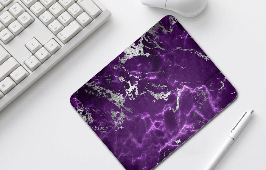 Dark Purple Silver Marble Mouse Pad, Home Office Decor, Mousepads, Desk  Accessories, Mousepad, Mouse Mat, Computer Accessories,  4