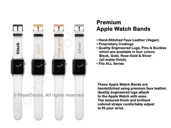 Textured White Apple Watch Band | White