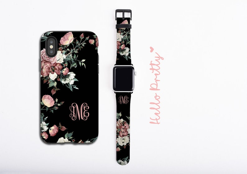Vintage shabby chic roses iPhone case & Apple Watch Band image 0