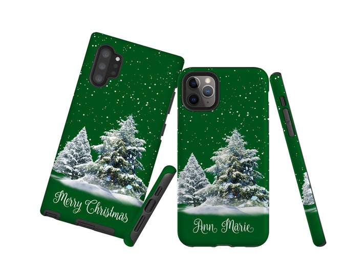 Green Christmas iPhone 13 Pro Max Case, customized iPhone 12 mini Samsung Note 10 plus Galaxy S21 iPhone XS iPhone XR Galaxy S10 iPhone 8