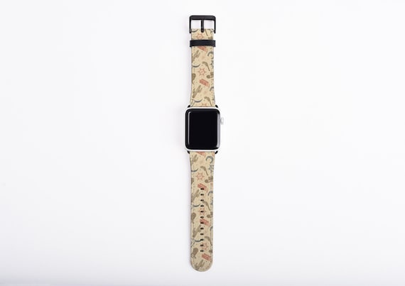 Cowgirl Apple Watch Band, 38mm 40mm 42mm 44,mm, faux leather Apple watch strap, southwestern style, fits series 1 2 3 and 4, cactus, funny
