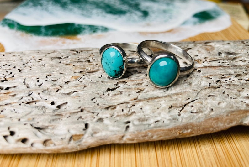 Silver Turquoise Ring Silver Ring Silver Jewellery Chinese image 0