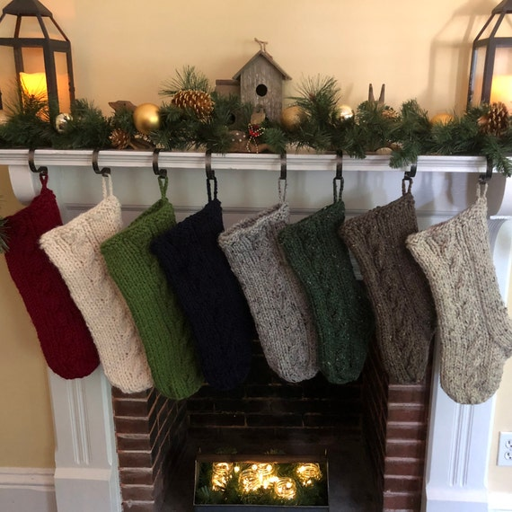 Cable Knit Christmas Stockings.Chunky Cable Knit Christmas Stocking Large Chunky Knit Stocking