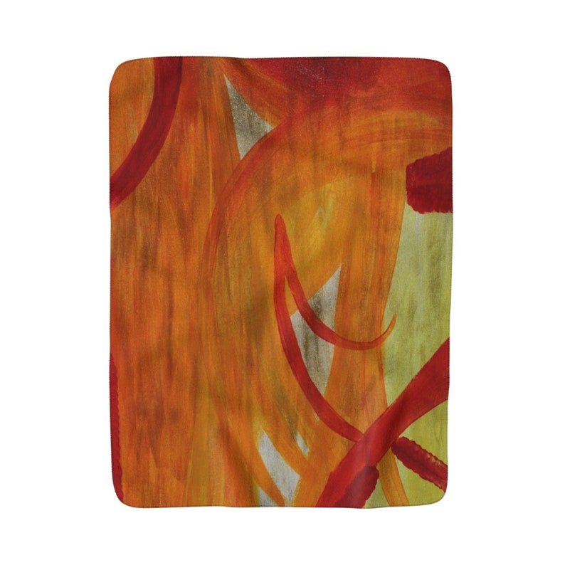Soft And Warm Sherpa Fleece Blanket 50x60 Tigerlily Painting