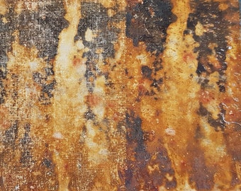 26 x 23 cm  rust dyed cloth slow dyeing natural dyeing organic eco dyeing textile dyeing fabric remnant piece patchwork stitch collage sew