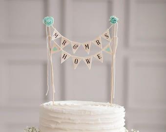 Mr Mrs Wedding Cake Topper Hochzeit Rustikal Kuchendeckel Etsy
