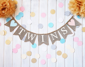 twin baby shower decorations etsy