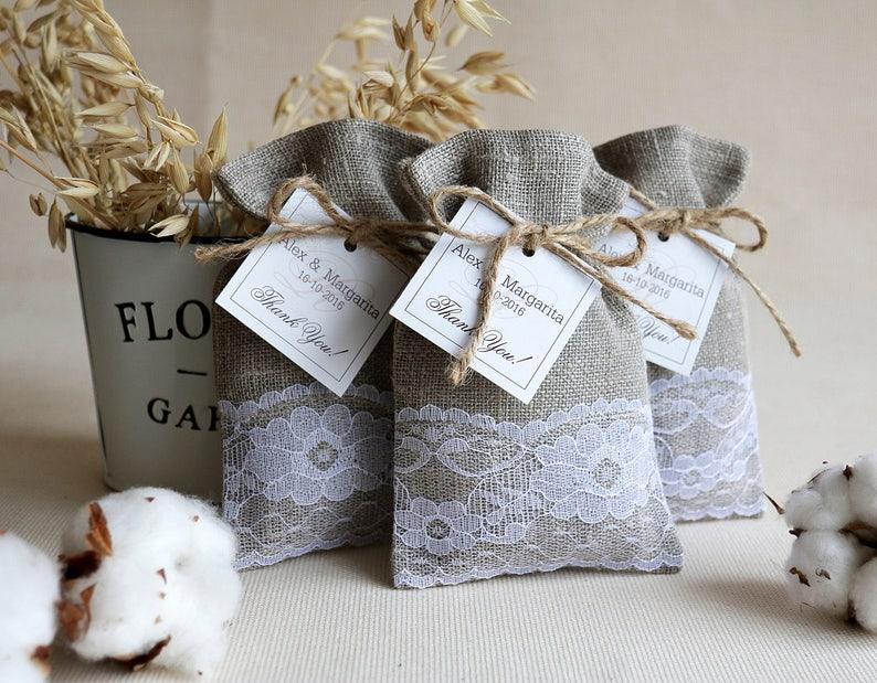 SET OF 200 Linen Favor Bags