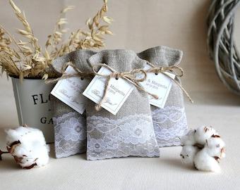 SET OF 150 Linen Favor Bags, wedding favor bags, Burlap Favor Bags, Wedding Gift Bags, Natural Rustic Linen Bags, Rustic gift bags