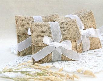 burlap favor bags, wedding favor bags, Rustic gift bags, Wedding Gift Bags, Wedding Favors, Wedding Favour Bags, Candy Bags