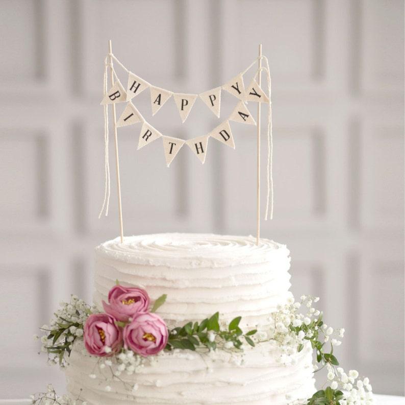 Happy Birthday Cake Banner Bunting