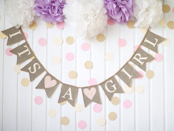Personalised Baby Shower Party Banner Custom Unisex Canvas Fabric Decorations