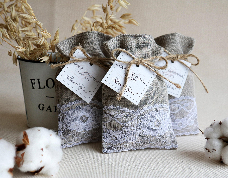 burlap wedding favor bags - HD3000×2340