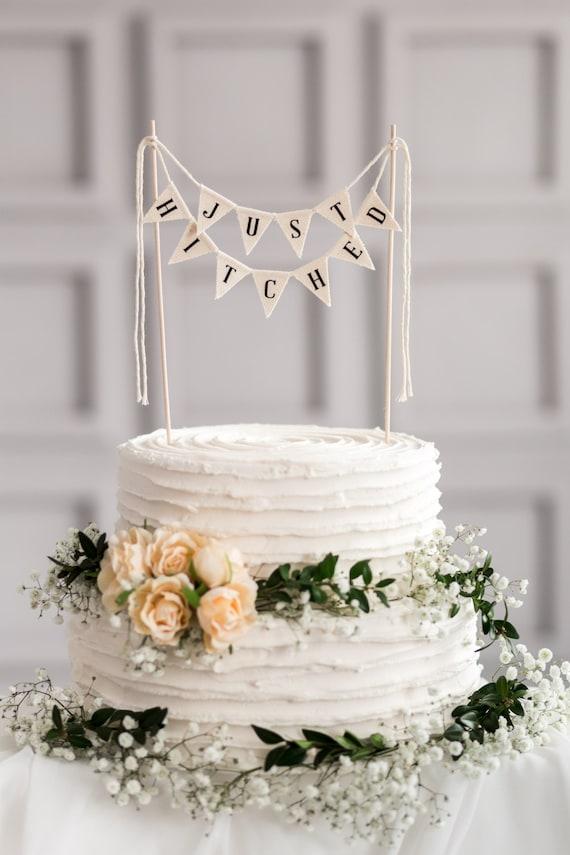 Einfach Gespannt Hochzeitstorte Topper Banner Rustikale Etsy