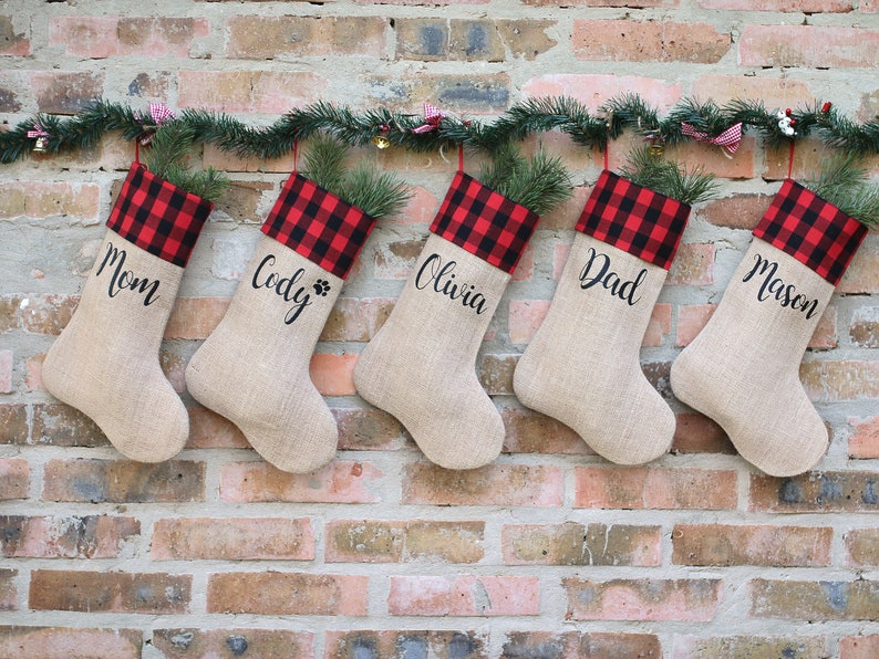 6d32fcd1db0a Custom christmas stocking burlap christmas stocking