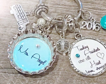 Personalized Teacher Assistant Keychain
