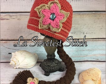 Elena of Avalor inspired crocheted hat  f1abafd1452