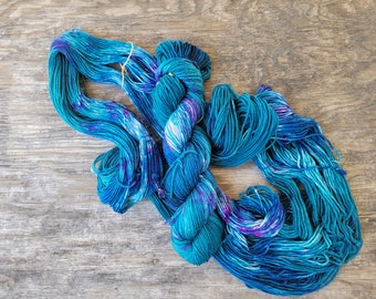 Potions,  ready to ship, Hand dyed yarn, fingering weight, indie dyed yarn, merino, nylon
