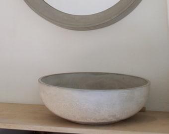 raw living Large bowl, fruit bowl, concrete